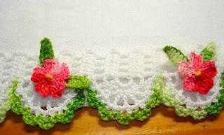 Piastrella all uncinetto con fiore in rilievo tutorial parte