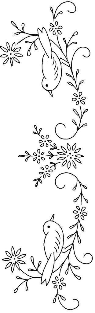 Disegni di ricamo con motivi floreali punti e spunti - Disegni a punti ...