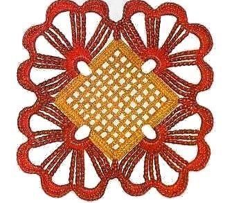 Piastrella arancio all uncinetto punti e spunti for Piastrelle uncinetto filet schemi