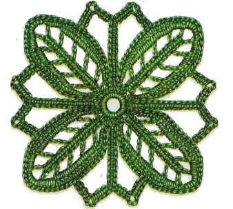Piastrelle all uncinetto fiore dai quattro petali punti - Schemi piastrelle uncinetto ...
