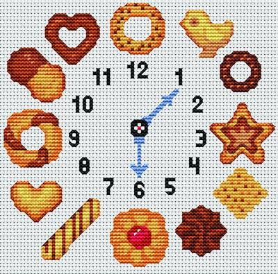 Schema orologio punti e spunti for Orologio punto croce schemi gratis