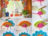 crochet-tende per cucina