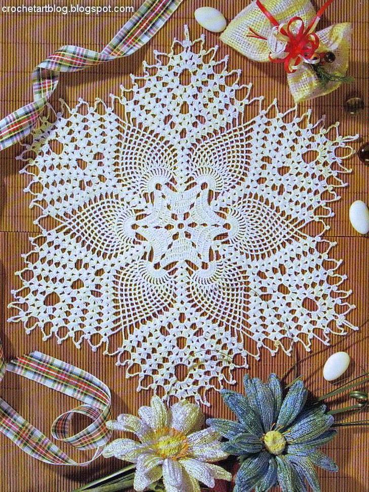 crochet -centro tavola