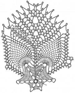 schema crochet -centro tavola