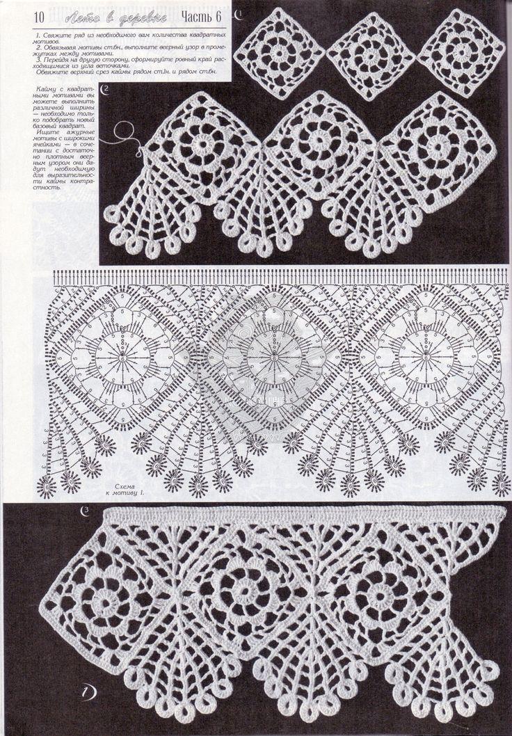 Schemi uncinetto bordi fantasia punti e spunti for Schemi bordure uncinetto per lenzuola