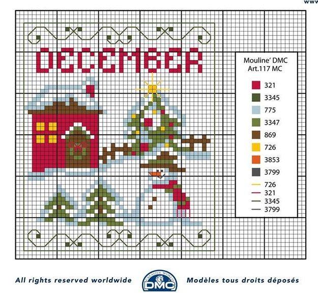 Punto croce schemi- i mesi dell'anno DMC (5)