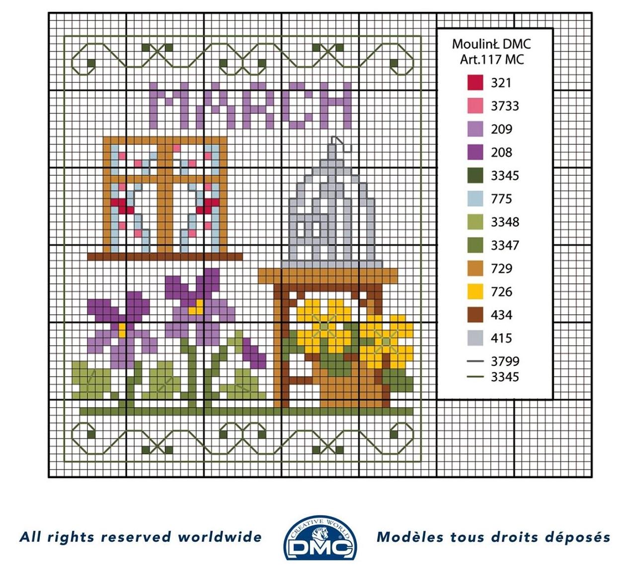 Punto croce schemi- i mesi dell'anno DMC (9)