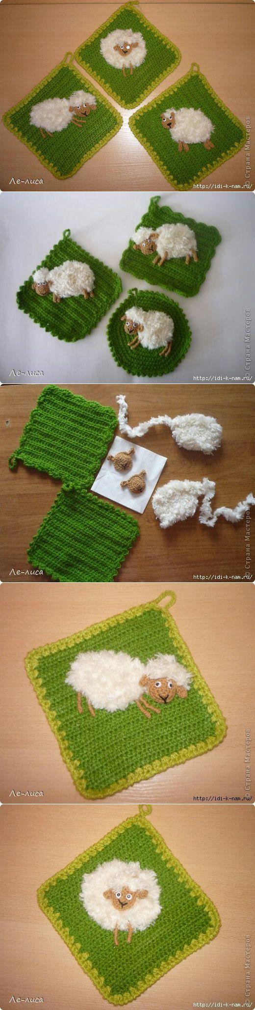 Tutorial piastrelle con fiori uncinetto crochet (2)