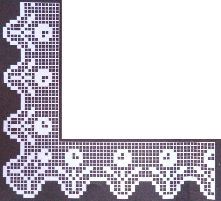 bellissimo bordo all'uncinetto crochet per tovaglie lenzuola asciugamani biancheria da cucina (6)