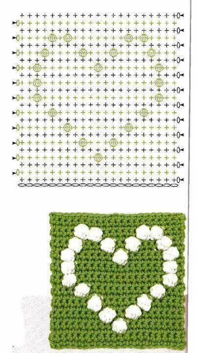 cuore batticuore uncinetto crochet (5)