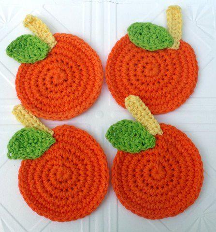 presina  a uncinetto crochet  halloween-zucca(6)