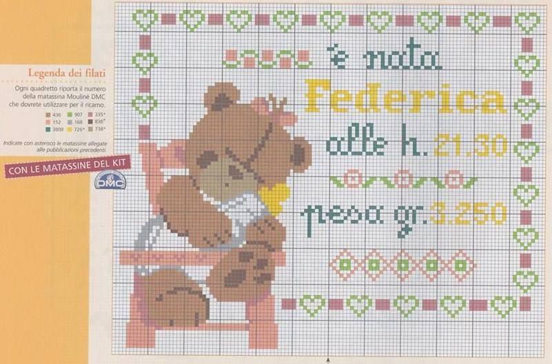 raccolta di schemi per banbini a punto croce con orsetti-paperelle-api e pecorelle (36)