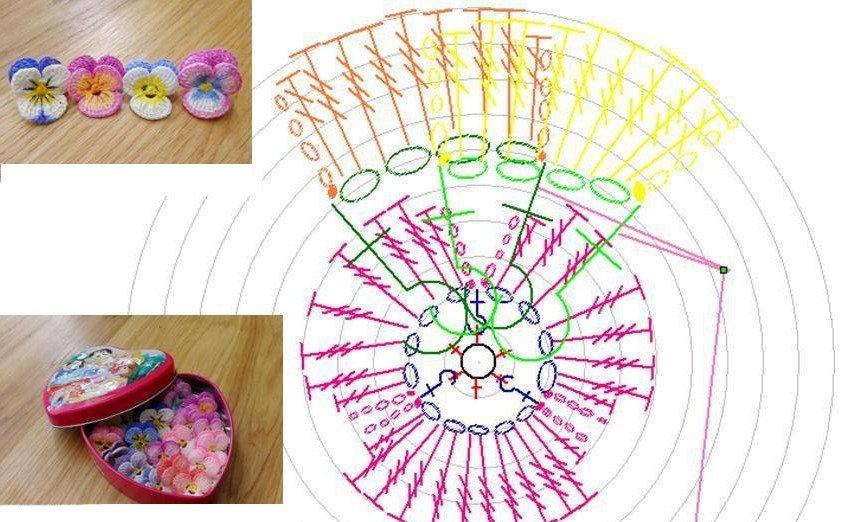 fiori per gioielli a uncinetto crochet (5)