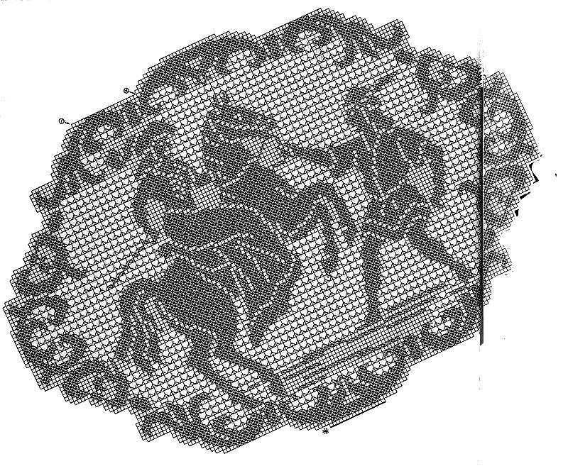 schema centro tavola- cavaliere uncinetto crochet
