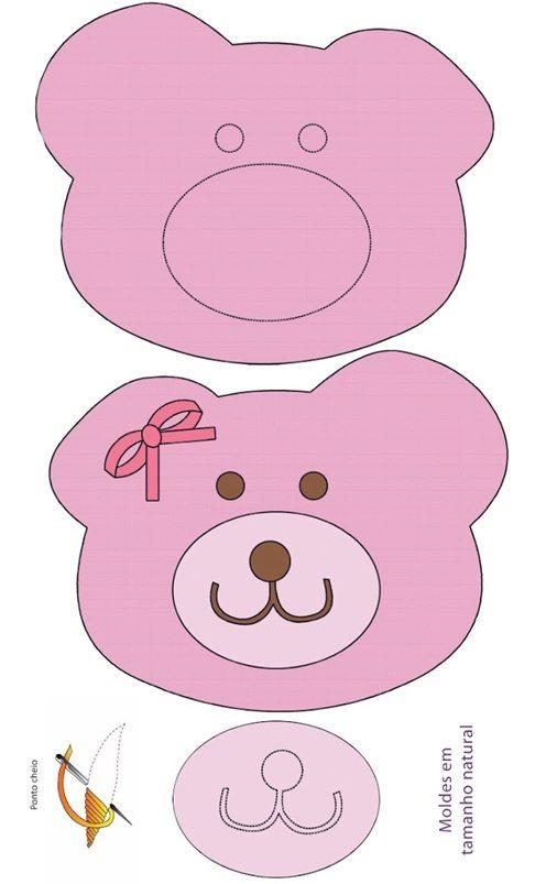 Pacwork fai da te-teneri orsetti rosa (2)