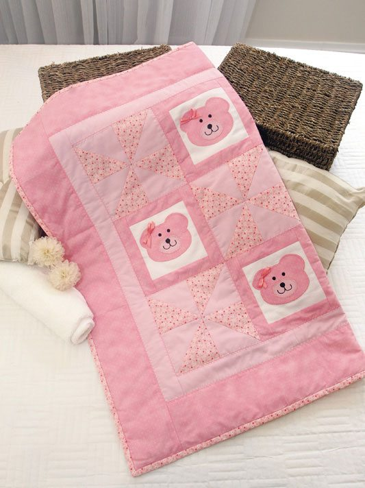 Pacwork fai da te-teneri orsetti rosa (4)