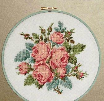 Ricamo Design Rose, Rose, ricamo a punto croce ricamo fiori rose (27)