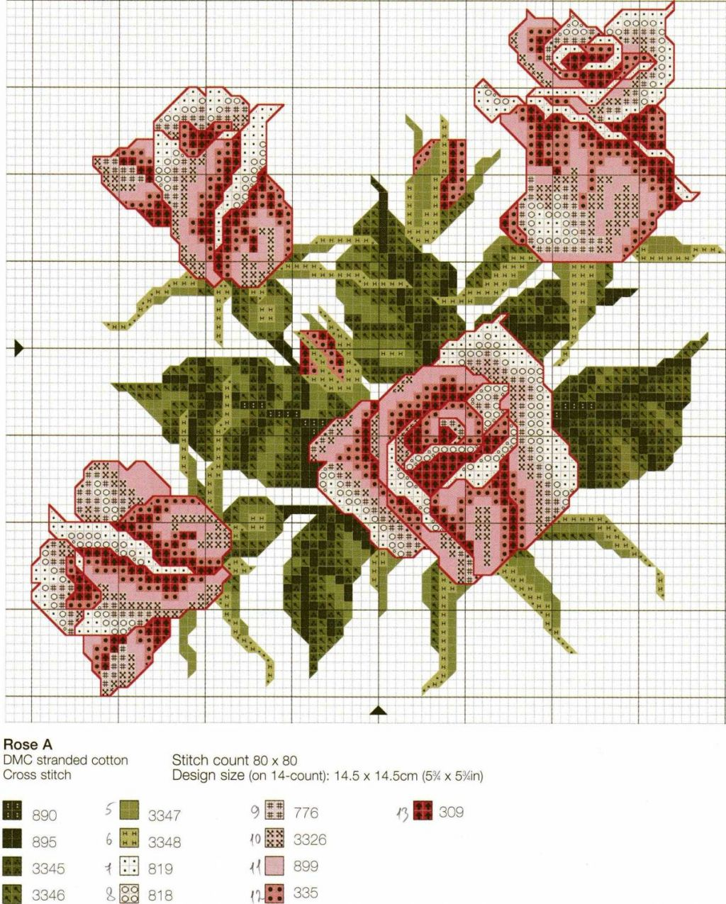 schemi cross stich roses (8)