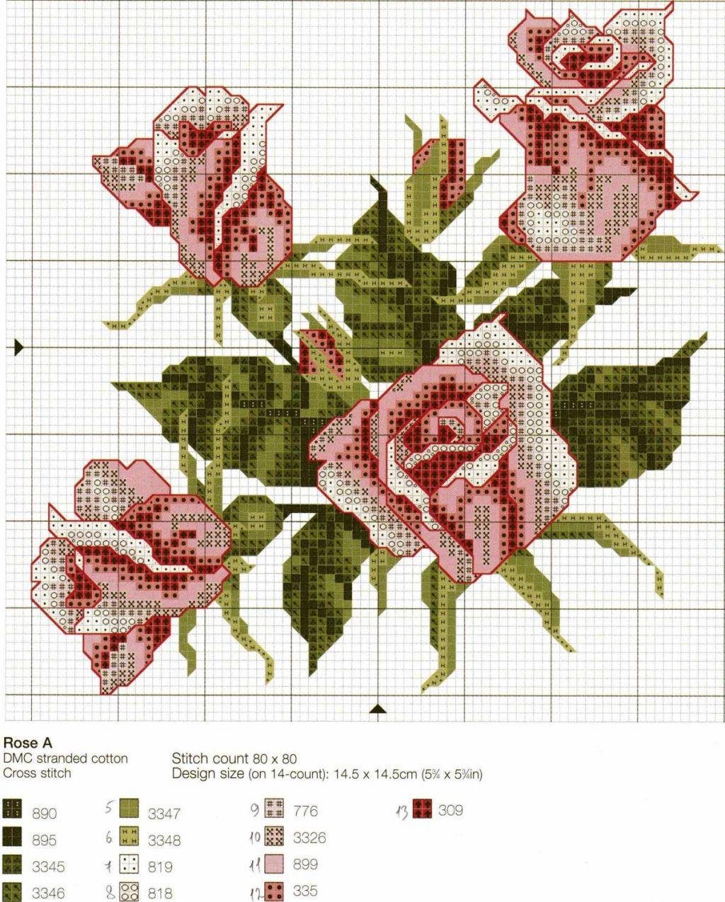 schemi cross stich roses (8)
