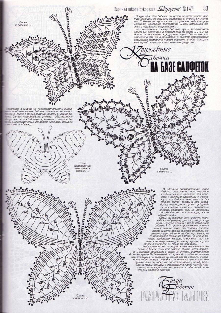 raccolta schemi a uncinetto a tema farfalle (2)