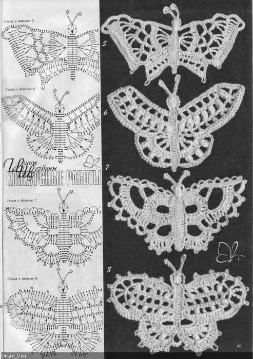 raccolta schemi a uncinetto a tema farfalle (3)