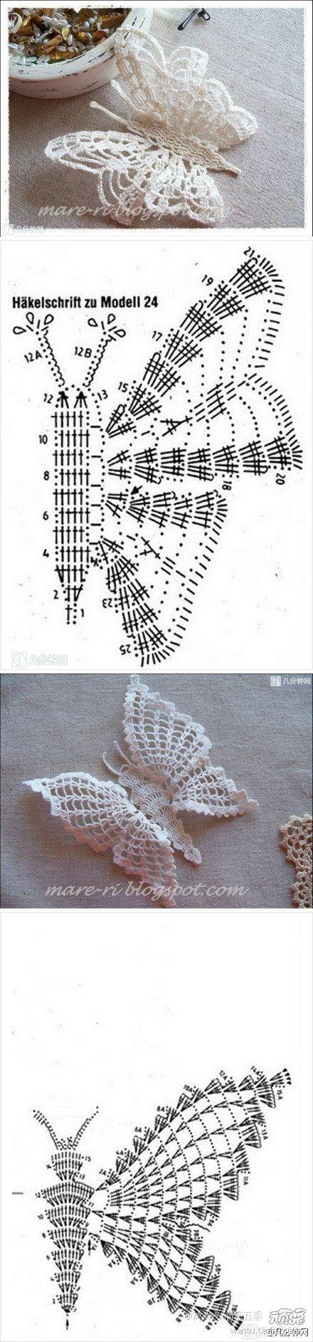 raccolta schemi a uncinetto a tema farfalle (6)