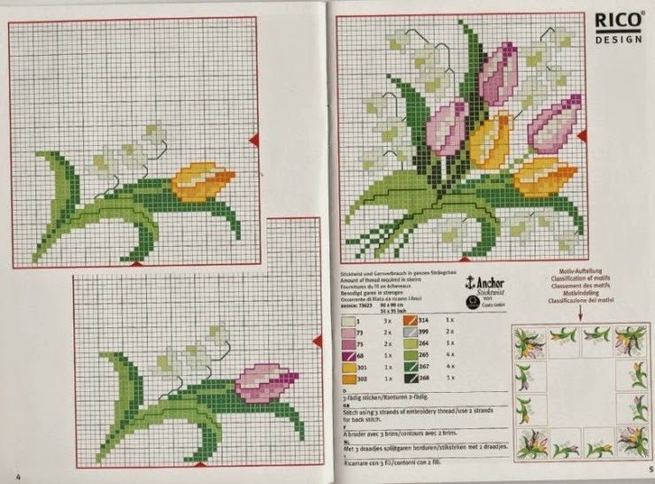 schema gratis tulipani a punto croce (6)