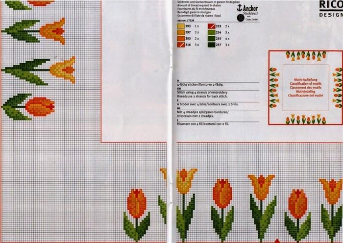 schema gratis tulipani a punto croce (8)
