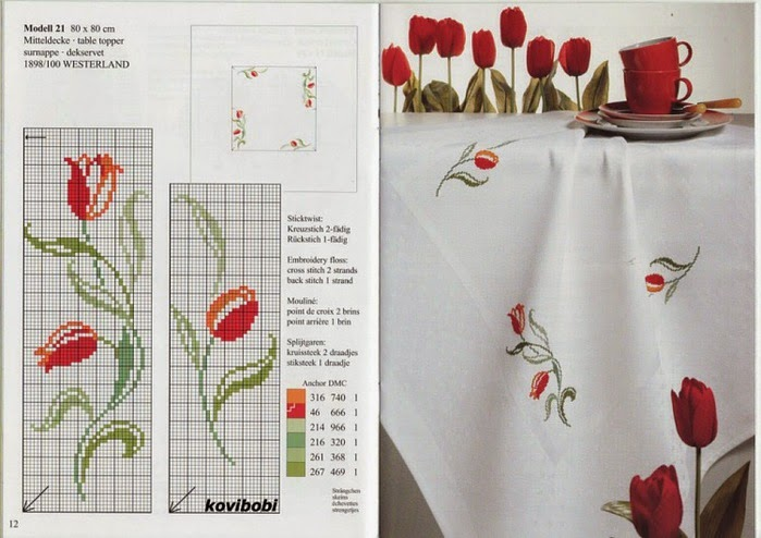 schema gratis tulipani a punto croce (9)