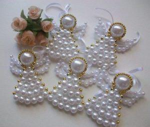 angioletti natale con perline