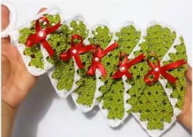 albero di natale a crochet