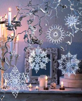 stelline, angioletti e fiocchi di neve alluncinetto crochet (5)