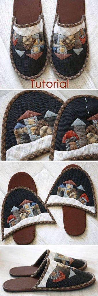 tutorial per pantofole da casa fai da te