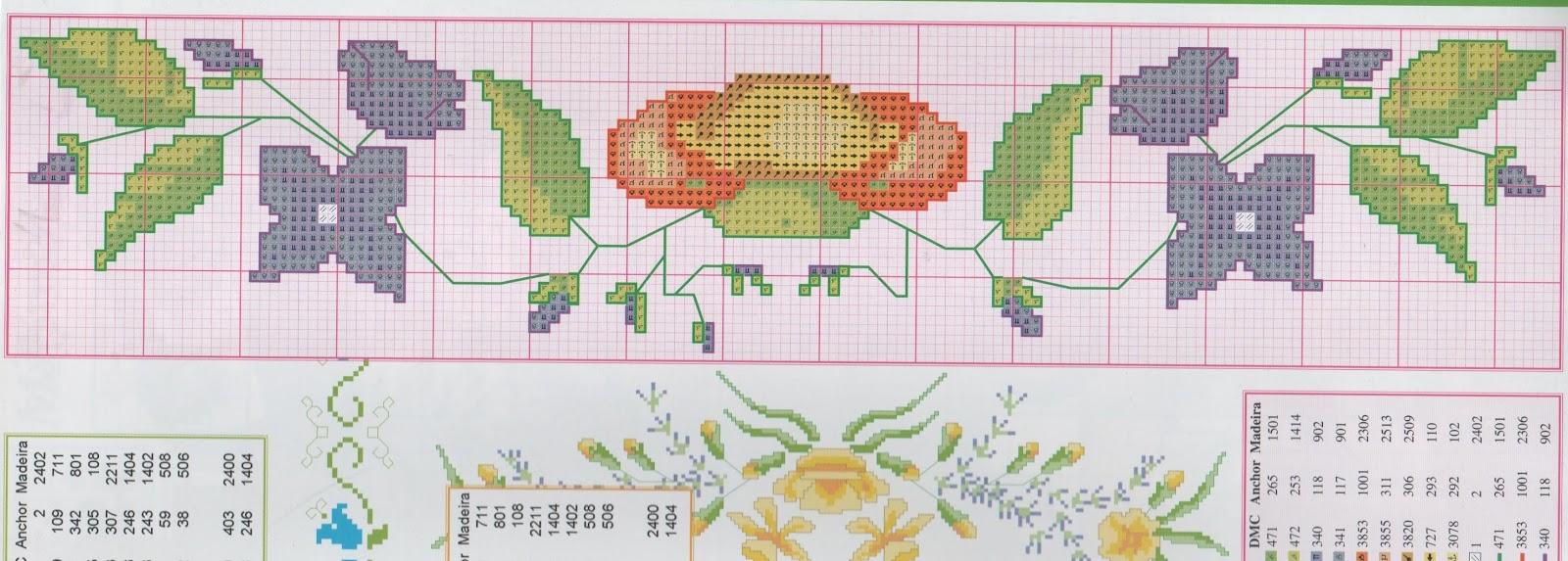 bordi a punto croce con giori-cenefas flores (29)