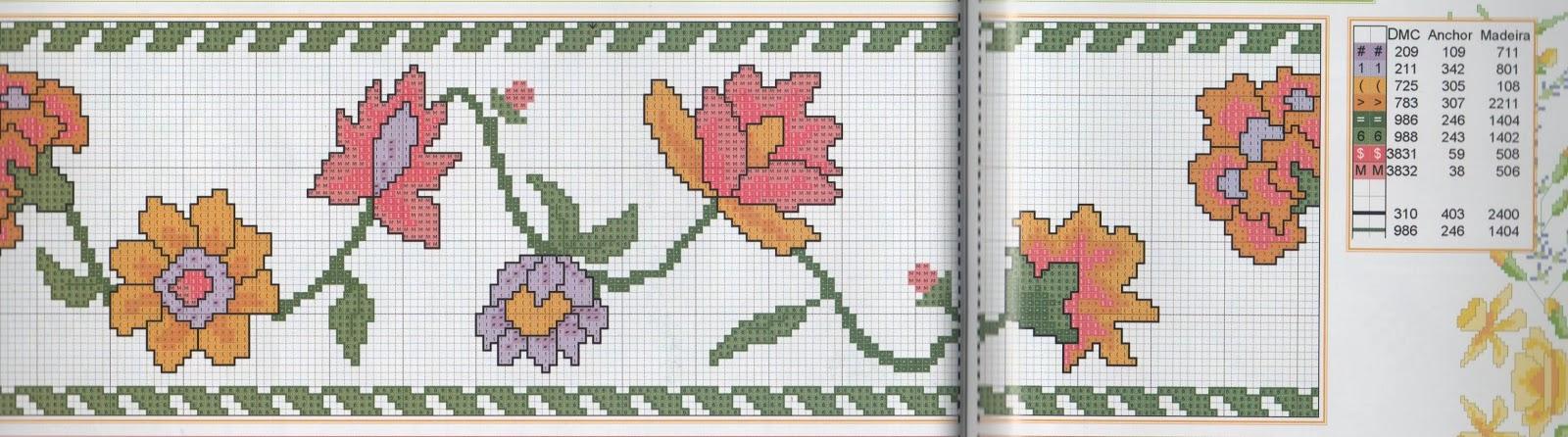 bordi a punto croce con giori-cenefas flores (31)