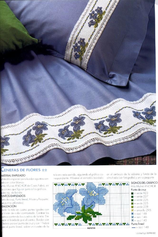 grande raccolta di schemi e ricami a punto croce per asciugamani o salviette per il bagno (34)