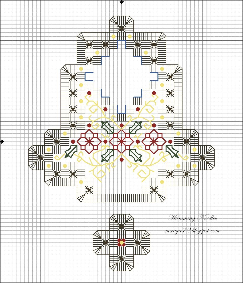 Xmas Bell Ornament Christmas e Pattern (2)