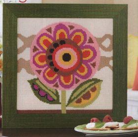 quadro a punto croce con fiore (2)