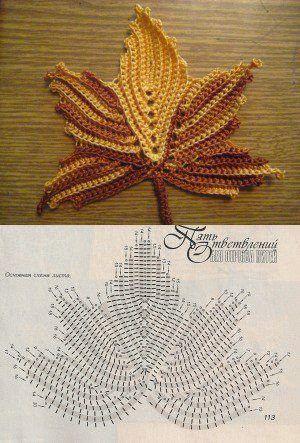schema uncinetto foglie (3)