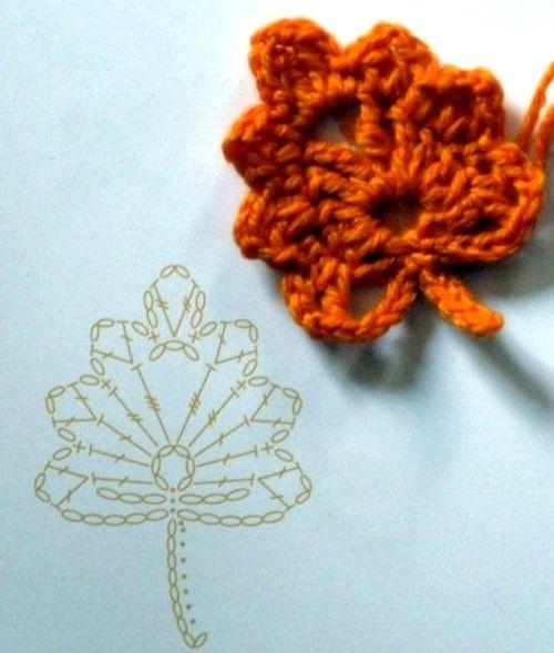 schemi uncinetto per foglie (5)