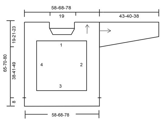 Maglione DROPS lavorato all'uncinetto con quadrati e motivo traforato (1)