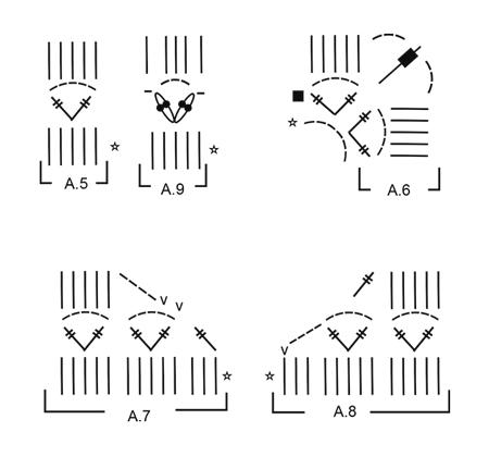 Maglione DROPS lavorato all'uncinetto con quadrati e motivo traforato (3)