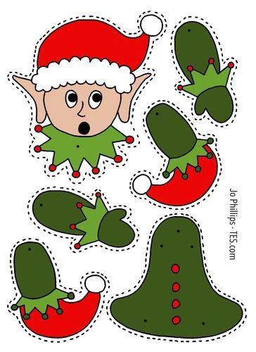 Natale - cuci, ricama,Colora, taglia i tuoi addobbi per natale (7)