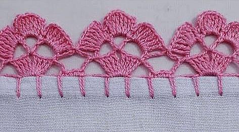 bordo semplice, facilissimo e di effetto a uncinetto crochet (7)