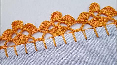 bordo semplice, facilissimo e di effetto a uncinetto crochet (8)