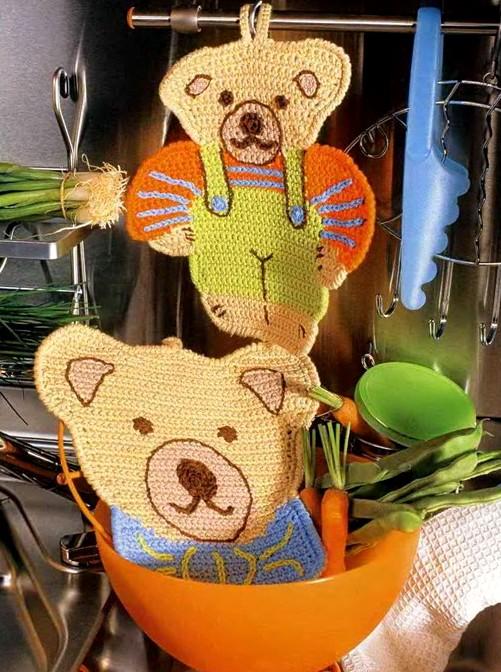 simpaticissime presine a uncinetto realizzate con gli avanzi di lana o cotone (7)